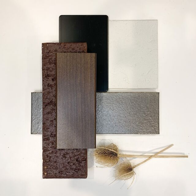 Flat Lay Friday // All I can see is chocolatey goodness! The Metallix and Allure bricks by Austral are the absolute heroes of this simple flat lay – simple but maximum impact! The teak brown cladding is the perfect icing to this combo.  Yep, now I'm hungry.